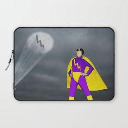 Superhero being signalled by spotlight Laptop Sleeve