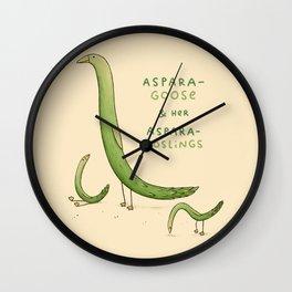 Asparagoose & Her Asparagoslings Wall Clock