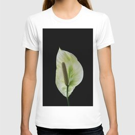 Peace Lily on Black #1 #floral #decor #art #society6 T-shirt