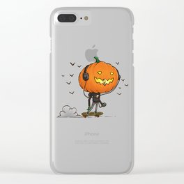 The Skater Pumpkin Clear iPhone Case