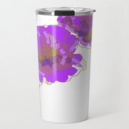 Purple Poppy Travel Mug
