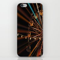 ferris wheel iPhone & iPod Skins featuring Ferris Wheel by Renee Trudell