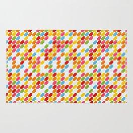 Rainbow gems geometric pattern, hexagon abstract colorful diamonds Rug