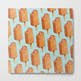 Popsicle Pattern- Strawberry Shortcake Metal Print