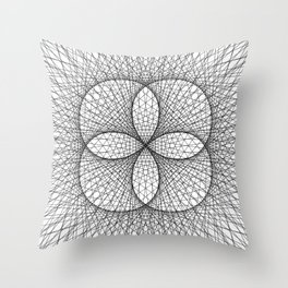 Scared Geometry Abstract Art - c10565 Throw Pillow