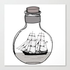 The ship in the bulb Canvas Print