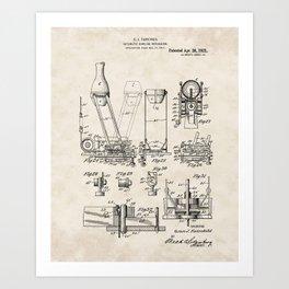 Automatic Bowling Machine Vintage Patent Hand Drawing Art Print