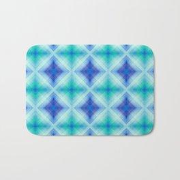 Pattern squares blue Bath Mat