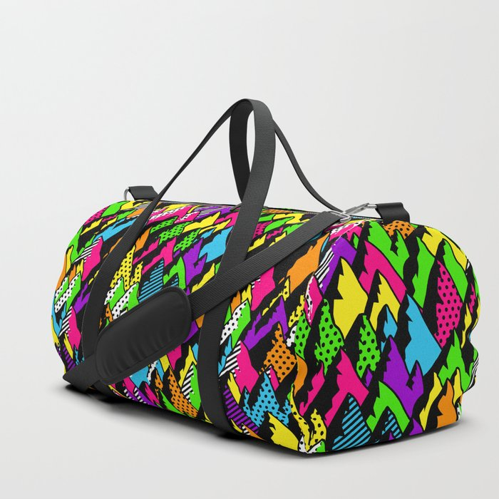 abstract poppy mountains Duffle Bag