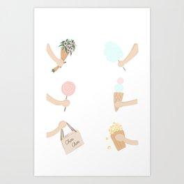 birthday surprise Art Print