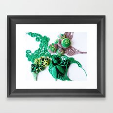 Green with Lime  Fine Art Photography Framed Art Print