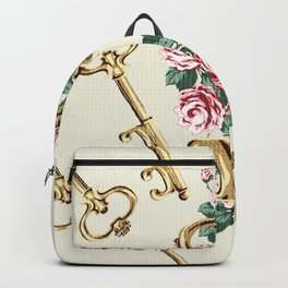 Vintage Floral Key Backpack