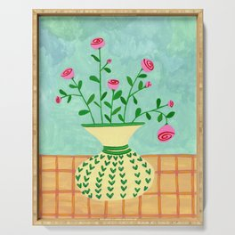 Flowers on a vase II Serving Tray