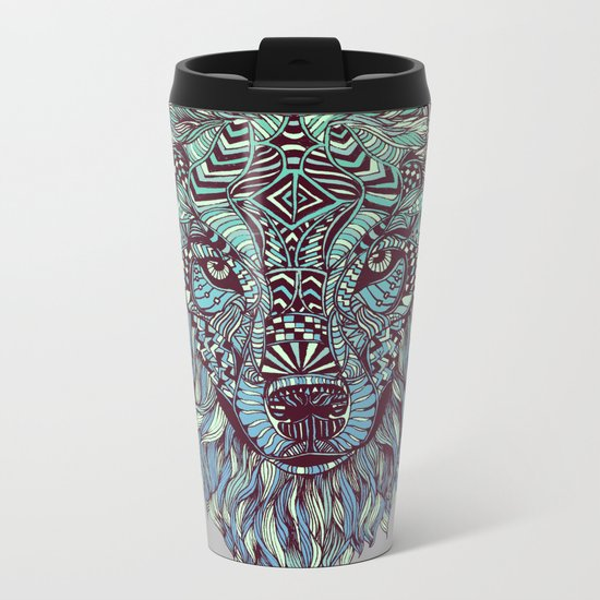 Wolf (Lone) Metal Travel Mug
