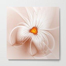 Floral Abstract, Fantasy Flower Fractal Art Metal Print