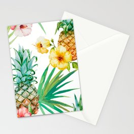 tropical pineapple Stationery Cards