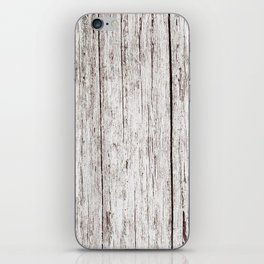 Pale Brown Wood Cottage Chic Rustic Wood Grain Texture iPhone Skin