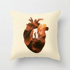 Heart Explorer Throw Pillow
