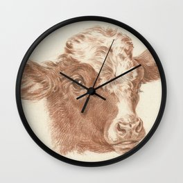 Vintage Cow Art Wall Clock