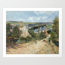 Entrance to the Village of Osny by Paul Gauguin Art Print