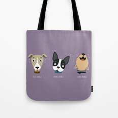 Three wise dogs Tote Bag
