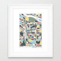 portland Framed Art Prints featuring Portland. by Studio Tesouro