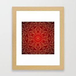 Golden Pattern Design Framed Art Print