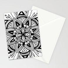 Mandala - Black Stationery Cards