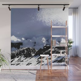 Light on mountains and clouds Wall Mural