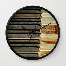Antique Ebony & Ivory Wall Clock