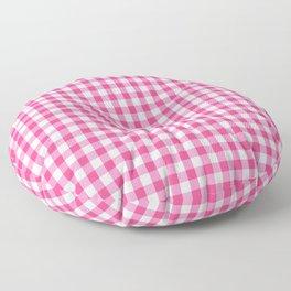 Gingham Print - Pink Floor Pillow