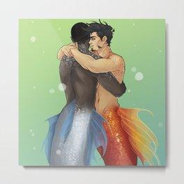 WATER HUG Metal Print