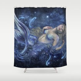 Swimming in Starlight Shower Curtain