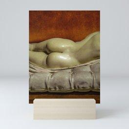 Woman on Bed Sensual Scene Mini Art Print
