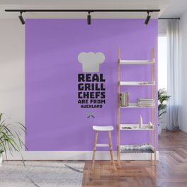 Real Grill Chefs are from Auckland T-Shirt D37l9 Wall Mural