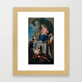 CIGNAROLI, GIOVANNI BETTINO Verona, 1706 - Verona, 1770 The Virgin and Child with Saints 1759 - 1762 Framed Art Print