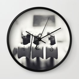Thrust Levers in Black and White Wall Clock