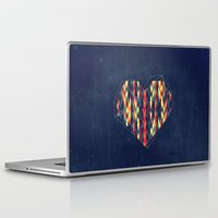 interstellar Laptop & iPad Skins featuring Interstellar Heart by VessDSign
