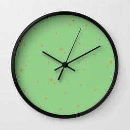Mint Green Starburst Pattern Wall Clock