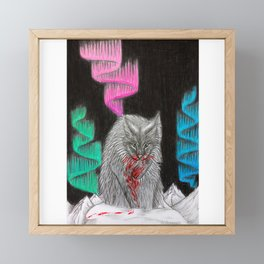 Yule Cat Framed Mini Art Print