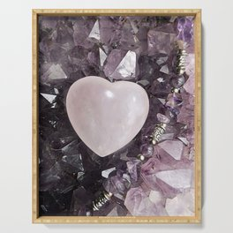 Crystal Heart Serving Tray