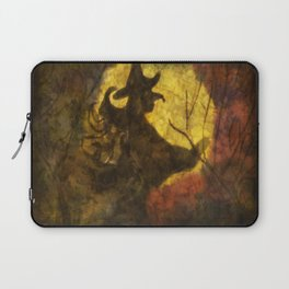 Witch on Moon Laptop Sleeve