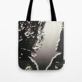 Black & Silver Grey Photograph Liquid Metal #2 Tote Bag