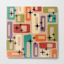 Mid Century Modern Geometric Abstract 193 Metal Print
