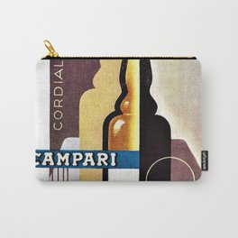 Vintage Cordial Campari Guitar Motif Advertisement Poster Carry-All Pouch