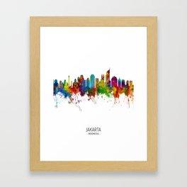 Jakarta Skyline Indonesia Framed Art Print