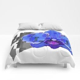 Techno Orchid Comforters