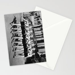 New York girls in the chorus line - vintage mid century photo in B&W Stationery Cards