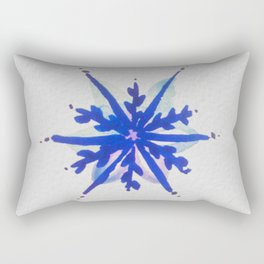 WATERCOLOR SNOWFLAKE 6 - blue and purple palette Rectangular Pillow