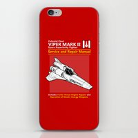 battlestar iPhone & iPod Skins featuring Viper Mark II Service and Repair Manual by adho1982